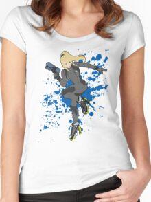 Zero Suit Samus (Black Alt.) - Super Smash Bros Women's Fitted Scoop T-Shirt