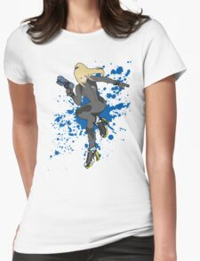 Zero Suit Samus (Black Alt.) - Super Smash Bros Womens Fitted T-Shirt