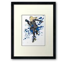 Zero Suit Samus (Black Alt.) - Super Smash Bros Framed Print
