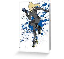 Zero Suit Samus (Black Alt.) - Super Smash Bros Greeting Card