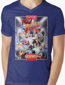 Final Fight T-Shirt Mens V-Neck T-Shirt