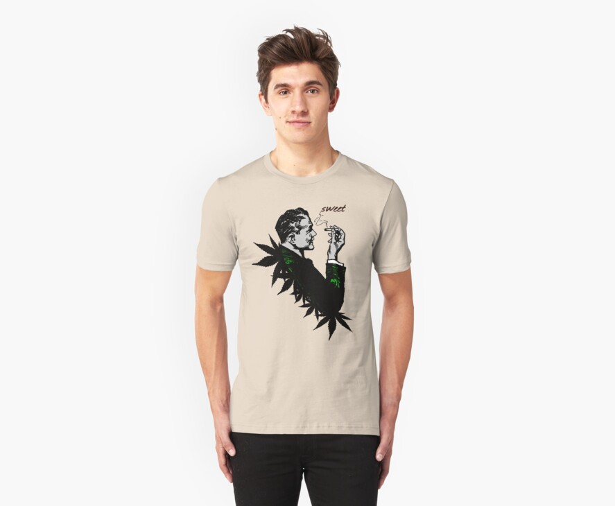 Politics and Weed - Sweet - Politician Smoking Weed Pot Marijuana Hemp T Shirts Stickers and Art by Denis Marsili