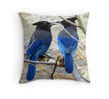 Blue Kiss Throw Pillow