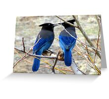 Blue Kiss Greeting Card