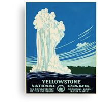 Vintage Travel Poster - Yellowstone Park Canvas Print