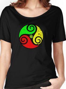 Reggae Love Vibes - Cannabis Reggae Flag Women's Relaxed Fit T-Shirt