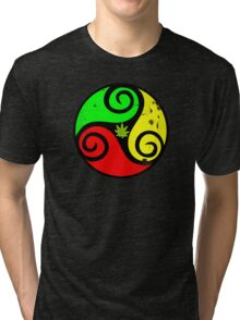 Reggae Love Vibes - Cool Weed Pot Reggae Rasta - Pouch T-Shirts and more Tri-blend T-Shirt
