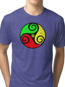 Reggae Love Vibes - Cool Weed Pot Reggae Rasta - Pouch T-Shirts and more Tri-blend T-Shirt