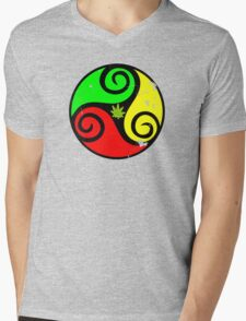 Reggae Love Vibes - Cool Weed Pot Reggae Rasta - Pouch T-Shirts and more Mens V-Neck T-Shirt