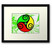 Reggae Love Vibes - Cool Weed Pot Reggae Rasta - Pouch T-Shirts and more Framed Print