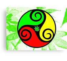 Reggae Love Vibes - Cannabis Reggae Flag Canvas Print