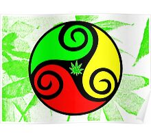 Reggae Love Vibes - Cool Weed Pot Reggae Rasta - Pouch T-Shirts and more Poster
