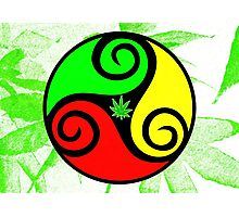 Reggae Love Vibes - Cool Weed Pot Reggae Rasta - Pouch T-Shirts and more Photographic Print