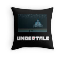 Frisk and Monster Kid in Waterfall Undertale Throw Pillow