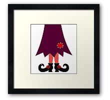 Cartoon Witch legs Vector Illustration Framed Print