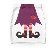 Cartoon Witch legs Vector Illustration Mini Skirt