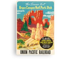 Vintage Travel Poster - Bryce Canyon, Utah Canvas Print