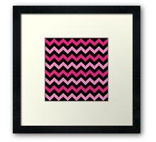 Fashion Zigzag pattern Vector background Framed Print