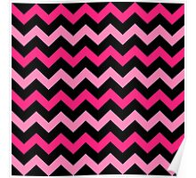 Fashion Zigzag pattern Vector background Poster