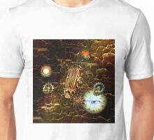 Steampunk, microphone with gears  Unisex T-Shirt