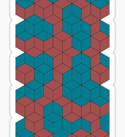 Cube Pattern Sticker