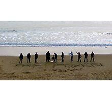 Foyer Crew on Bournemouth Beach Photographic Print