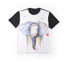 Gentle Giant - Watercolor Elephant Graphic T-Shirt