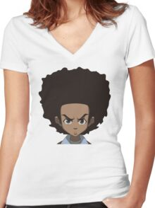Huey Freeman Women's Fitted V-Neck T-Shirt