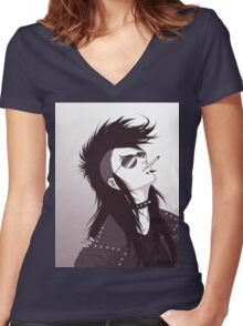 Rebel With A Pair Of Shades Women's Fitted V-Neck T-Shirt