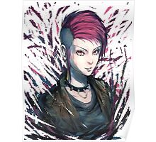 Pink Mohawk Poster