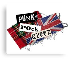 Punk Rock Queen Canvas Print
