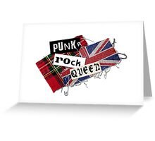 Punk Rock Queen Greeting Card