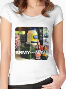 Giant Mayonnaise Jar Women's Fitted Scoop T-Shirt