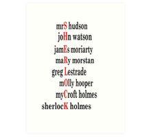 Sherlock acrostic  Art Print