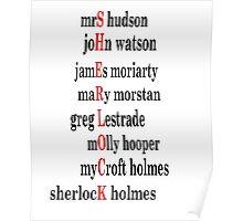 Sherlock acrostic  Poster