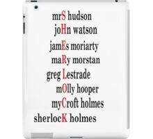 Sherlock acrostic  iPad Case/Skin