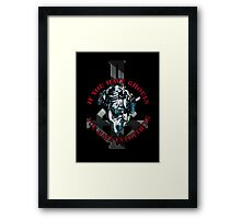 IF YOU HAVE GHOULS, YOU HAVE EVERYTHING - blue chrome Framed Print