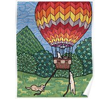 Ferret Hot Air Balloon Ride Poster