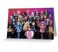 Ever After High - Class Photo II Greeting Card