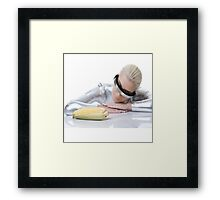 cyber woman with corn Framed Print