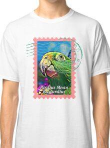 Yellow-crowned amazon PSYCHEDELIC POSTAGE STAMP Classic T-Shirt