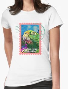 Yellow-crowned amazon PSYCHEDELIC POSTAGE STAMP Womens T-Shirt