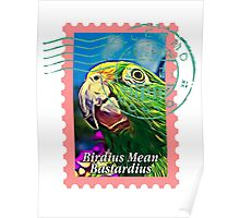 Yellow-crowned amazon PSYCHEDELIC POSTAGE STAMP Poster