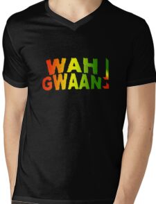 Wah Gwaan! Jamaican Style Mens V-Neck T-Shirt