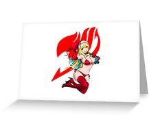 Logo Lucy Santa Claus Greeting Card