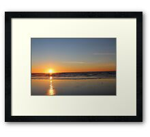Oregon Coast Sunset Framed Print
