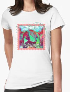 MACAW PSYCHEDELIC POSTAGE STAMP Womens T-Shirt