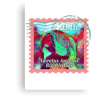 MACAW PSYCHEDELIC POSTAGE STAMP Canvas Print