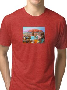Soapy the Ted gets up on his Soapbox and talks to a Multiculture Bored Audience Tri-blend T-Shirt
