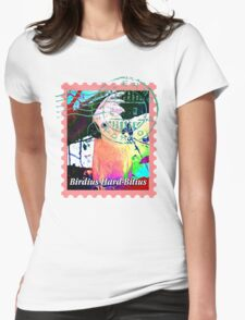 UMBRELLA COCKATOO PSYCHEDELIC POSTAGE STAMP Womens T-Shirt